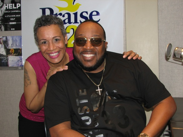 After the Marvin Sapp Takeover... all smiles! via: Deb Foster - Radio One