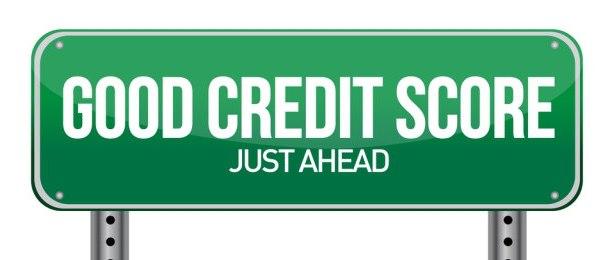 good-credit-score-road-sign